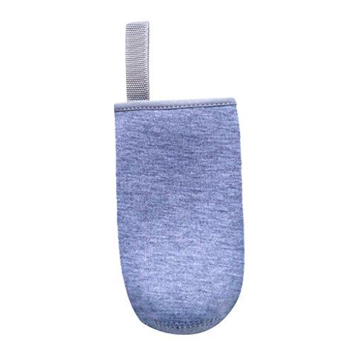Sharplace Isolierender Neopren Thermo-Hülle für Trinkflasche Sport Glasflasche Wasser-Flasche - Grau