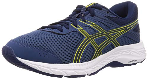 Asics Gel-Contend 6, Running Shoe Mens, Grand Shark/Vibrant Yellow, 42.5 EU