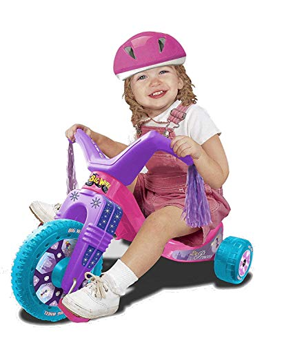 The Original Big Wheel Junior for Toddlers, Age 18 months to 3 years, Pink-Purple-Blue, 8.5' Wheel Ride On Tricycle Cruiser, Kid Powered Pedal Bike, 50th Year, Sit Down Riding Push Around Outdoor Toy…