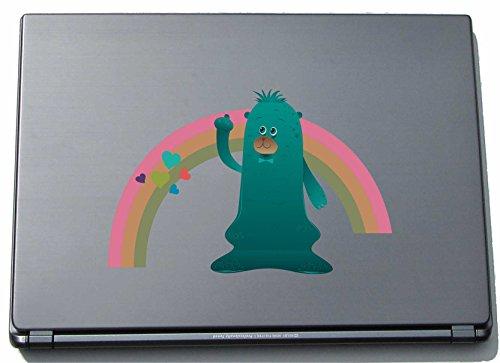Preisvergleich Produktbild Laptopaufkleber Laptopskin clm017 - Lustige kleine Monster - Qualle mit Regenbogen - 210 mm Aufkleber