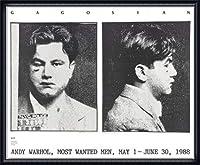 ポスター アンディ ウォーホル Most Wanted Men No. 2 John Victor G 額装品 ウッドハイグレードフレーム(ネイビー)