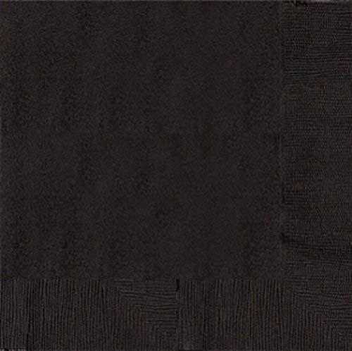 Amscan Lot 20 papieren servetten 2-ply-Jet zwart