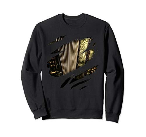 Akkordeon in mir Design, Akkordeon Design, Instrument, Musik Sweatshirt