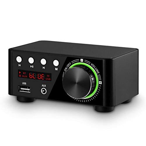 KDLK Mini TPA3116 Amplificador De Potencia Receptor Bluetooth 5.0 Estéreo Home Car Audio Amp USB U-Disk Reproductor De Música (Color : BK Without Adapter)