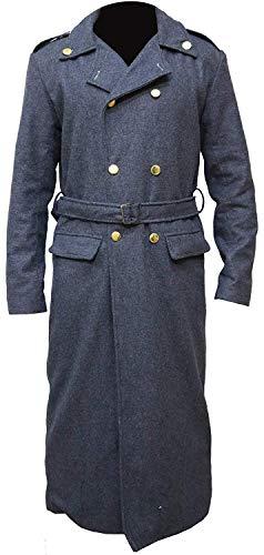 Doctor Who Mans Captain Jack Harkness John Barrowman langer grauer Mantel Gr. XXXXL, grau