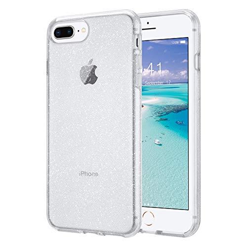 ULAK Funda iPhone 8 Plus, iPhone 7 Plus Carcasa a prueba de golpes de Estuche Parachoques de resistente Caso de protección suave Case para Apple iPhone 7 Plus/iPhone 8 Plus 5,5 Pulgada - Brill