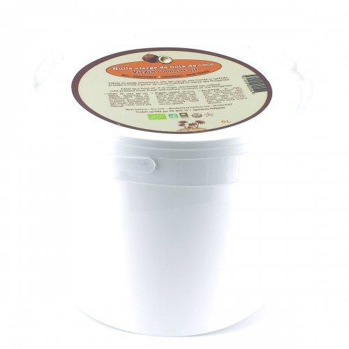 Huile vierge de noix de coco bio & équitable - Seau 5 L