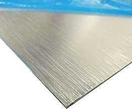 Online Metal Supply Brushed, Anodized Aluminum Sheet, Thickness: 0.025 inch, Width: 12 inches, Length: 12 inches