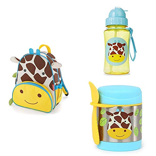 Great Deal! Skip Hop Insulated Toddler Backpack, Straw Bottle and Insulated Food Jar with Spork Set,...