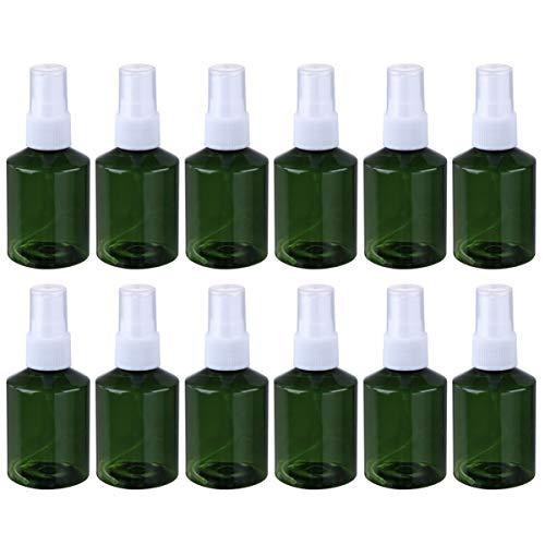Pixnor Flacons de Pulvérisation de 50 Ml Mini Lotion Atomiseur Liquide Maquillage Toner Pulvérisateur Distributeur Vide Parfum Huile Essentielle Monsieur 12 Pcs