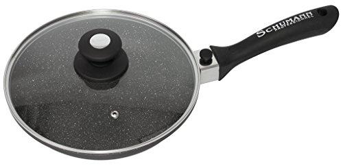 SCHUMANN PROFESSIONNEL SPO2302400 Poêle moove Noir 24 cm, Fonte d'Aluminium/Revêtement
