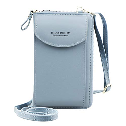 Jangostor Small Crossbody Bag Cell Phone Purse Wallet with Credit Card Slots for Women … (Sky Blue)