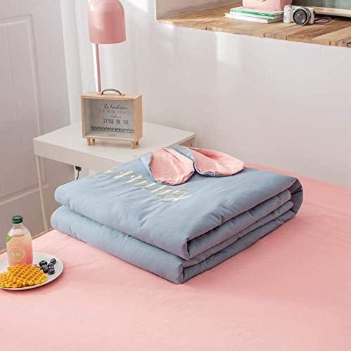 WLD Summer Air-Conditioning Quilt Quilt Die Summer All Cotton Air Conditioner wird von Summer-150 * 200Cm_Plum Color gesteppt,Himmelblau,220 * 240 cm