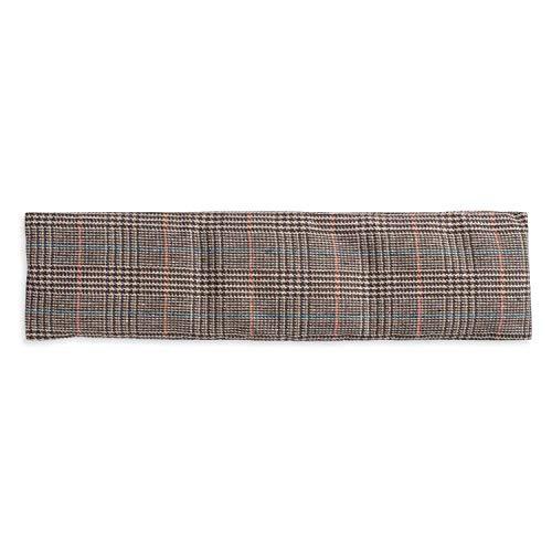 Cuscino ecologico con noccioli di ciliegio extra lungo, contiene 350 grammi, per il relax e benessere. Da riscaldare in forno o in microonde. Dimensioni 42x12cm (British)