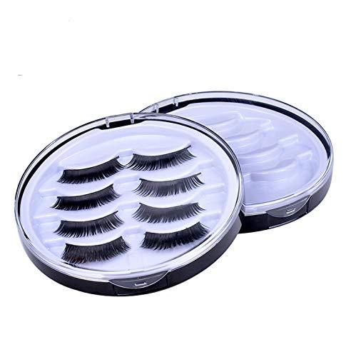 2 PCS Round False Eyelashes Packing Box Fake Eyelash Storage Case Transparent Lashes Holder Box Travel 4 Pari