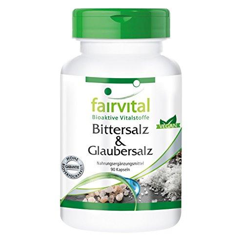 Bittersalz & Glaubersalz - Magnesiumsulfat (Epsom Salt) & Natriumsulfat - VEGAN - 90 Kapseln
