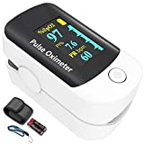 Pulse oximeter fingertip, Portable Blood Oxygen Saturation Monitor for Heart...
