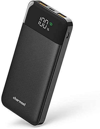 Charmast Power Bank 10400mAh, cargador portátil USB carga rápida C 18W PD & USB A QC 3.0 batería externa portátil con 3 salidas & 2 entradas para iPhone Samsung Chaqueta de calefacción