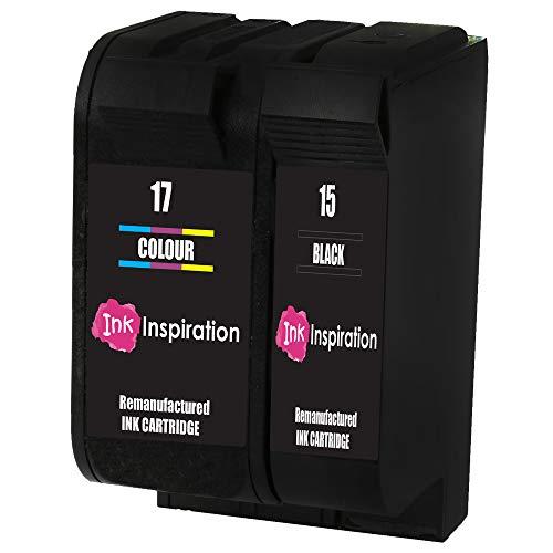 INK INSPIRATION® 2 Premium Druckerpatronen Ersatz für HP 15 17 Deskjet 816c 825c 827 840c 841c 842c 843c 845c 845cvr 848c | hohe Kapazität