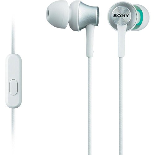 Sony MDR-EX450AP - Mobile Headsets (Binaural, In-ear, Wired, 1.2 m, Intraaural), Bianco