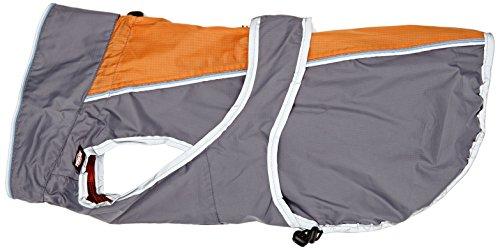 TRIXIE massiv Regenmantel für Hunde, 45cm, grau/orange
