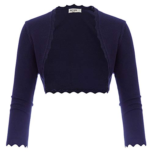 GRACE KARIN Damen Cropped Knit Bolero für Kleid Open Front Kurz Strickjacke Elegant Cardigan M CL960-3