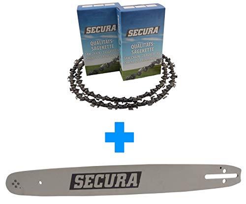2 Sägeketten + Schwert passend Scheppach CSH46 | 40cm 0.325 66TG 1,5mm