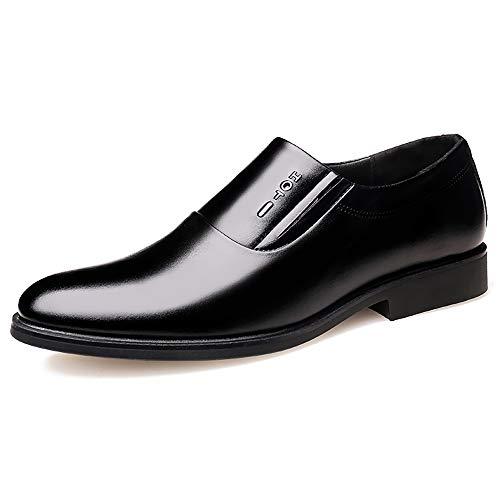 TTCXDP herenschoenen van leer, elegant, schoenen, schoenen, schoenen, warme punt, duurzaam, geschikt voor reizen en sport, zwart