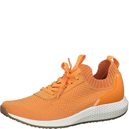 Tamaris Damen Schnürhalbschuhe, Frauen sportlicher Schnürer,lose Einlage, schnürschuh strassenschuh Sneaker schnürer Lady,Sunset,39 EU / 5.5 UK