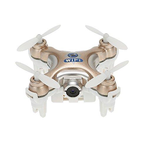Goolsky Cheerson CX-10W 4 Canales giroscopio de 6 Ejes WiFi FPV RTF Mini RC Quadcopter con 0.3MP Cámara