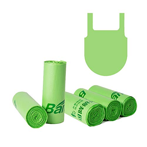 Xersex 60 Sacchetti della Spazzatura Pattumiera Organico Biodegradabili e Compostabili Sacchetti di Immondizia 13 Litri Sacchetti Contenitore Rifiuti