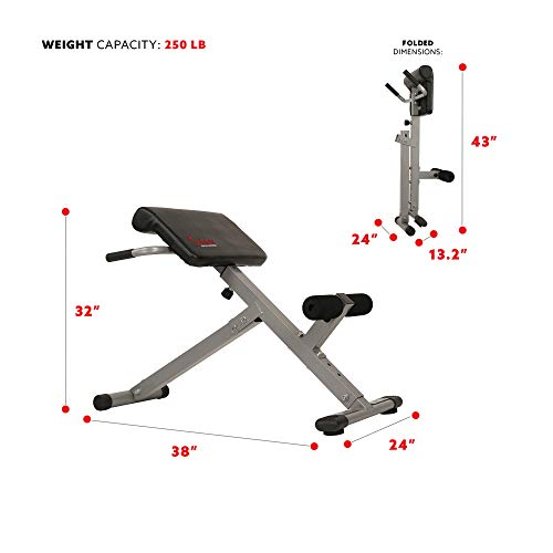 Product Image 4: Sunny Health & Fitness SF-BH6629 45 Degree Hyperextension Roman Chair