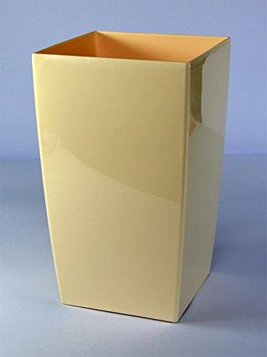 Prosperplast coubi pot 4 litres de fleur en plastique blanc crème brillant