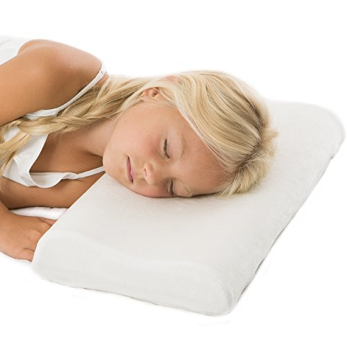 roll pillow for kids Hypoallergenic Adjustable-Height Memory Foam Cervical Pillow for Children and Toddlers with 100% Bamboo Pillowcase.