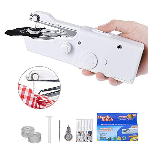 Handheld Sewing Machine, Mini Cordless Portable Electric Sewing Machine for Quick Stitch Beginners - Small Handy Stitch for Home and Travel Use