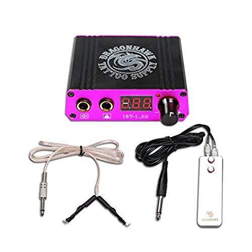 LCD Portable Mini Tattoo Power Supply Clip Cord Foot Pedal Kit P078EUYMX