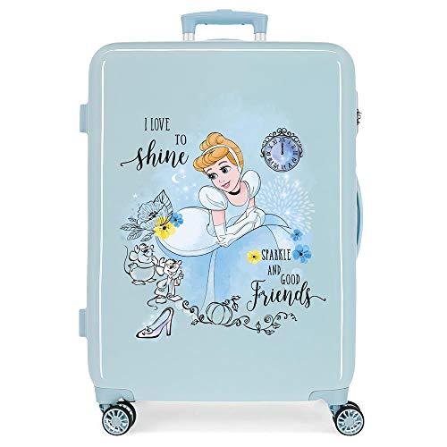 Disney Princess Celebration Medium Suitcase Blue 48 x 68 x 26 cm Rigid ABS Side Combination Closure 70L 2.6 kg 4 Double Wheels