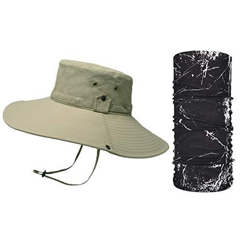 TAGVO Sombrero de Pescador, Protección UV al Aire Libre Gorras de Pescador, Sombreros de Acampada y Marcha, Sombrero de Sol Viajar Gorra Solar Plegable Impermeable para Hombre Mujer