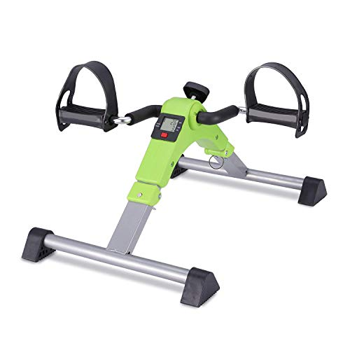 SISHUINIANHUA La Mini máquina de Ciclo Plegable de la Bicicleta del Ejercicio asentó el ejercitador para el Brazo y la Pierna Debajo del Escritorio