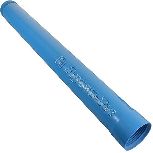 Agora-Tec® Brunnenrohr (Vollwandrohr) 4 Zoll DN 100 blau 1 Meter für den BAU eines Tiefbrunnen