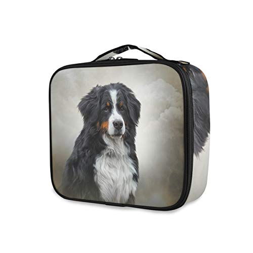 Outils Cosmetic Train Case Portable Makeup Bag Storage Bernese Mountain Dog Travel Box Toiletry Pouch