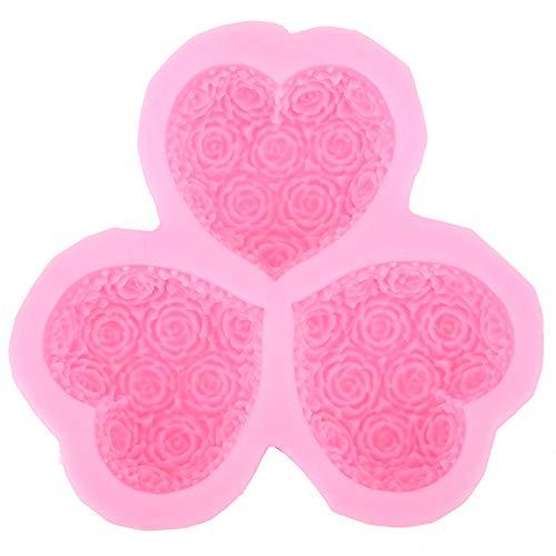 Stampo per candele a fiore rosa Stampo per torta a forma di rosa Stampo per fondente in silicone Stampo per torta al cioccolato per cottura