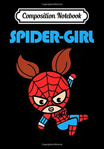 Composition Notebook: Marvel Spider-Girl Swinging Cute Kawaii Premium, Journal 6 x 9, 100 Page Blank Lined Paperback Journal/Notebook