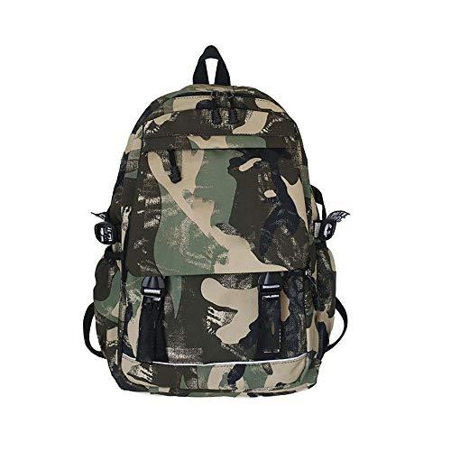 N/D Mochila De Camuflaje Casual Resistente Al Agua Y Duradero Mochila Backpack para El Laptop para Ordenador del Negocio Trabajo Diario Verde