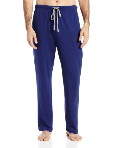 Hanes Men's Solid Knit Sleep Pant, Blue, Small