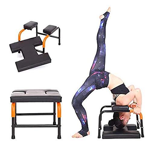 LoMSA Yoga Metal Frame Headstand Bench, Ergonomic Design Soft Sturdy Yoga Headstand Chair...