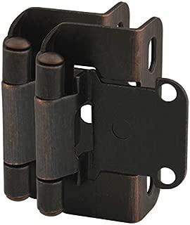 10 Pair Pack - Cosmas 27550-ORB Oil Rubbed Bronze Self Closing Partial Wrap Cabinet Hinge 1/2