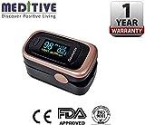 MEDITIVE FDA/CE Certification Oxygen Monitor Finger, Upgraded Spo2 Pulse Oximeter, Blood Saturation