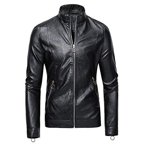 Men Winter Top Leather Jacket Biker…
