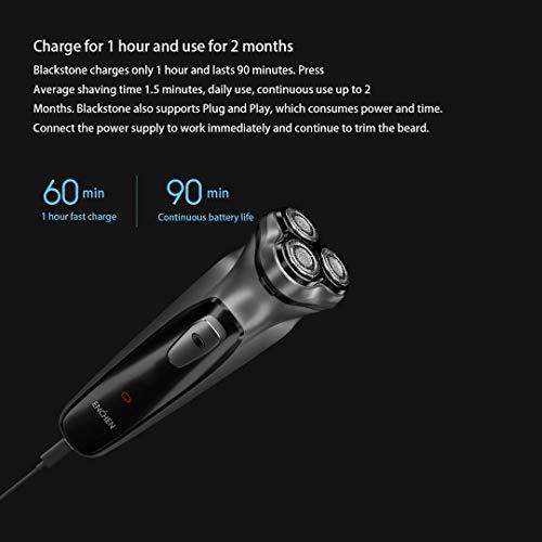 EnjoyLife- 1 Stunde schnellladung Lange akkulaufzeit 5 watt high Power 3D Suspension doppel Ring schleifkopf intelligente Anti-Pinch bart männlich elektrorasierer